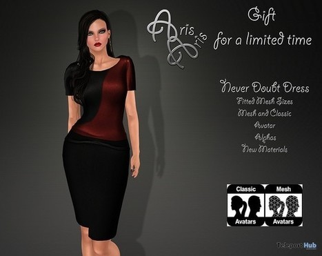 Never Doubt Dress Limited Time 1L Promo Gift by ArisAris | Teleport Hub - Second Life Freebies | Second Life Freebies | Scoop.it