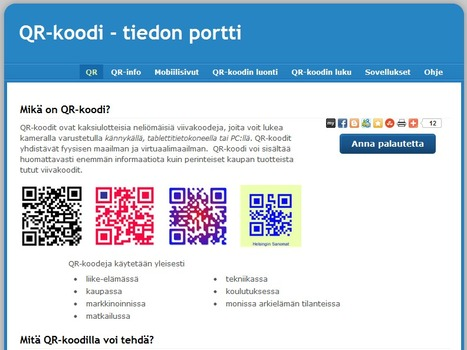 QR-koodi - tiedon portti | The use of QR codes | Scoop.it