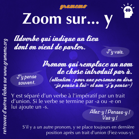 "Gramemo » Zoom sur le pronom ""y"" 