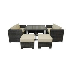All Weather Wicker 7 Pieces Love Seat Dining Set | Furniture Shoppy | Best Patio Furniture Sets | Scoop.it