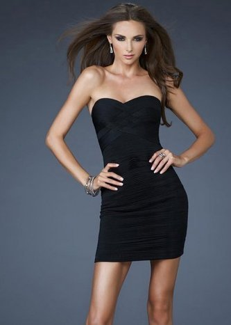 Electric Short Fitted Net Cocktail Dresses Black La Femme 18110 [La Femme 18110] - $145.00 : La Femme Outlet, 60% Off La Femme Sale Online | gownprincess | Scoop.it