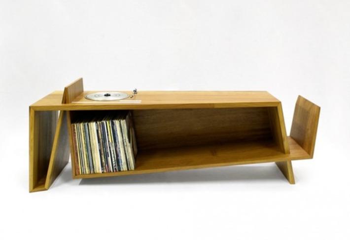 Furniture porn: Hugh Miller's folded record bureau | Nerdy Needs | Scoop.it