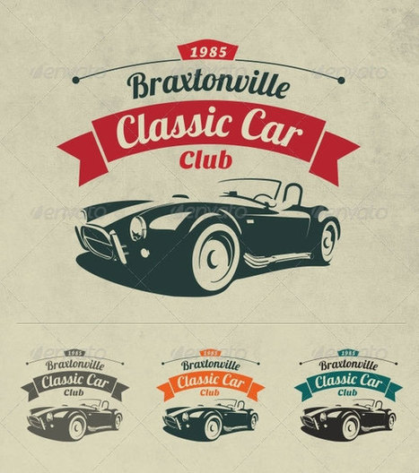 25 Cool Retro & Vintage Logo Template Designs | Web & Graphic Design | Bashooka | Logo Design | Scoop.it