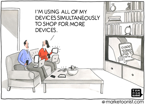 """Multi-Screen Marketing"" cartoon 