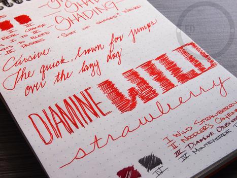 Diamine Wild Strawberry - Handwritten Ink Review | Writing instruments | Scoop.it