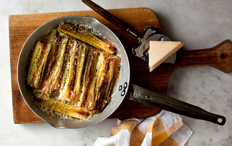 Elizabeth's Braised Leeks With Parmesan | HealthSmart | Scoop.it