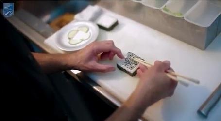 Un QR code en forme de Sushi