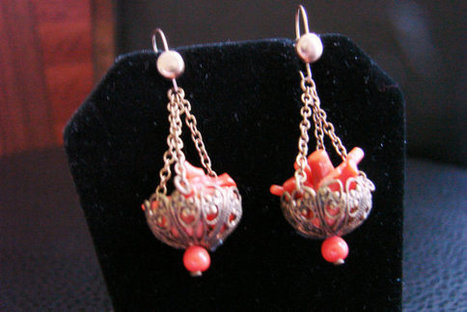 Antique Branch Coral Chandelier Drop Earrings / Filigree / Vintage Jewelry / Jewellery | Vintage and Antique Jewelry & Fashion | Scoop.it