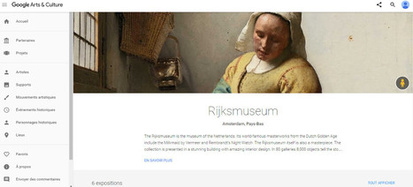 [Article CLIC France] Plus de 160.000 images des oeuvres de la collection Rijksmuseum maintenant disponibles sur Google Arts | Clic France | Scoop.it