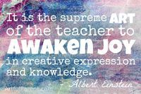 Albert Einstein Creativity & Education Quote - The Artful Parent | All About Arts | Scoop.it