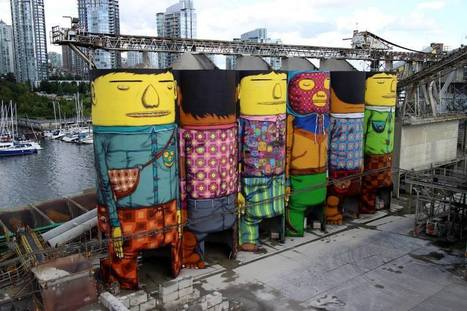 'Os Gemeos' Converts #Industrial #Silos in #Vancouver into #Towering Giants #art | Luby Art | Scoop.it