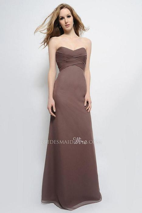 Perfect Sweetheart Neck Floor Length Mocha Chiffon Bridesmaid Gown | Evening Dress | Scoop.it