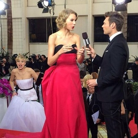 [PIC] Jennifer Lawrence Photo Bombs Taylor Swift — Golden ... | Jennifer Lawrence | Scoop.it