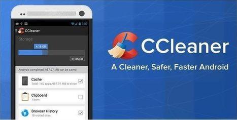 CCleaner pour Android : nettoyez les fichiers inutiles de votre smartphone | sans sucre ajouté !!!! ;) | Scoop.it