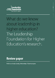 What do we know about leadership in higher education? - Publications | Educación a Distancia y TIC | Scoop.it