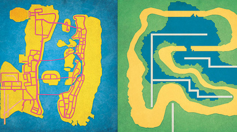 Get prints of your favorite video game maps and classic computers ...   visual mapping   Scoop.it