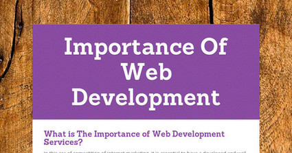 The Importance of Web Development Services | Flat User Interface | Scoop.it