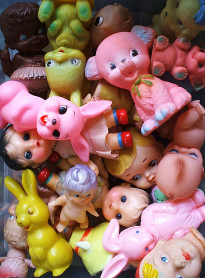 A Collection Of Vintage Rubber Squeaky Toys | Antiques & Vintage Collectibles | Scoop.it