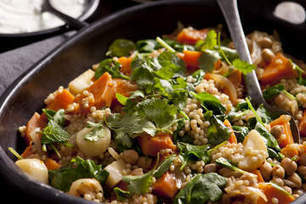 Sweet potato, pumpkin and parsnip with chickpeas and spinach | Food glorious food | Scoop.it