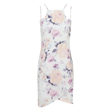 Rose Floral Wrap Over Bodycon Dress | Celebrity Style | Scoop.it