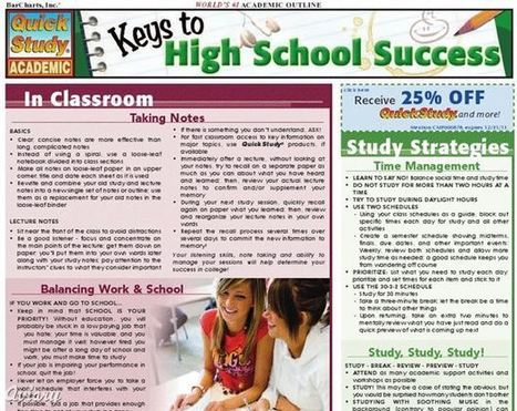 Free booklets with high school and college success tips for students | Educational Technology Today | Scoop.it