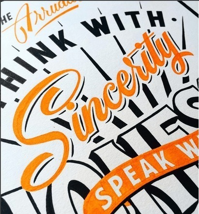 The Art Of Hand Lettering #typography #creativity | Inspired By Design | Scoop.it
