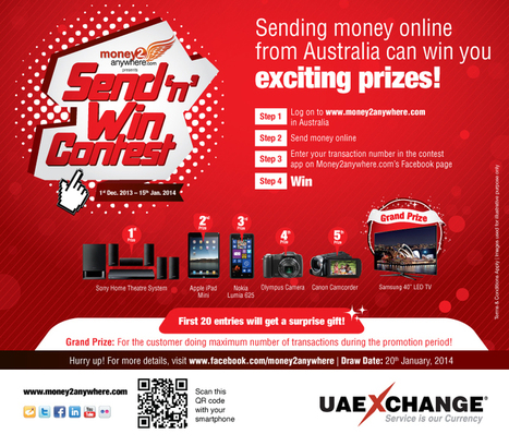 Money2anywhere.com Send 'n' Win Contest launched in Australia | UAE Exchange | Scoop.it