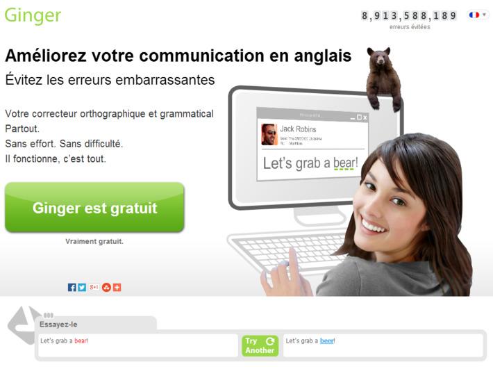 Ginger Software - Le correcteur orthographique et grammatical leader mondial | TIC et TICE mais... en français | Scoop.it