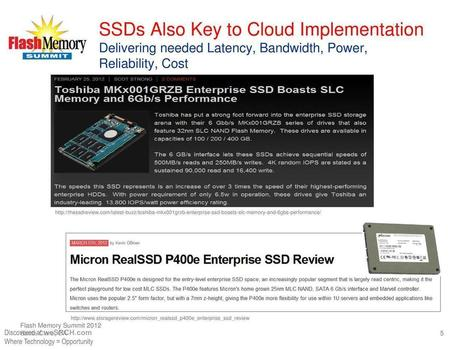 SSDs Also Key to Cloud Implementation - free slide submission, upload slide - weSRCH | wesrch | Scoop.it