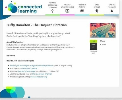 Conversation About Participatory Learning and Libraries - Thursday at Connected Learning! | Creating readers | Scoop.it
