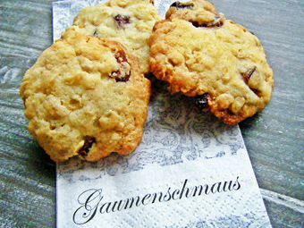 Sugar and Spice: Cranberry-Haferflocken-Cookies mit Fleur de Sel | Brownies, Muffins, Cheesecake & andere Leckereien | Scoop.it