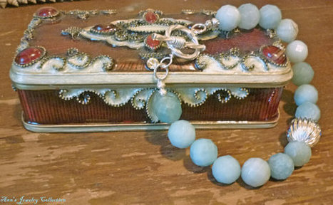 Sterling Silver Faceted Amazonite Bracelet | Ann's Jewelry Collection | Scoop.it