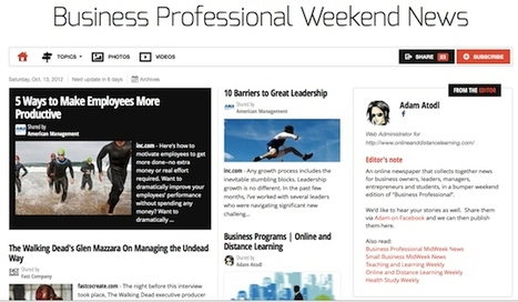 Oct 13 - Business Professional Weekend News | Business Futures | Scoop.it