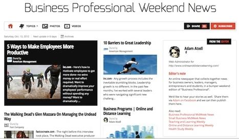 Oct 13 - Business Professional Weekend News | Business Updates | Scoop.it