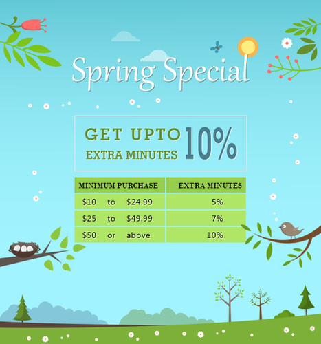 Spring Special Get upto 10% Extra Miniutes | Cheap International Calling | Scoop.it