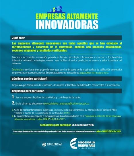 Consulta y convierte tu empresa en altamente innovadora | Colciencias | Emprendimiento y competitividad territorial | Scoop.it