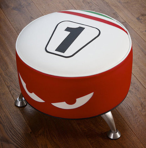 Carl Fogarty MBE, Officially licensed by Carl Fogarty, Ducati 1999 tribute stool leather | Ductalk Ducati News | Scoop.it