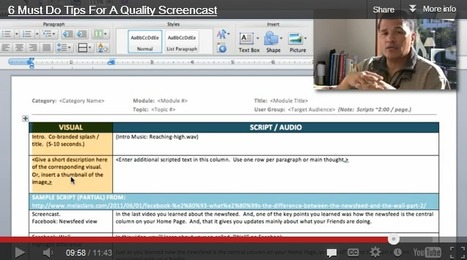6 Must Do Tips For A Quality Screencast | Creating Podcasts & Vodcasts for education | Scoop.it