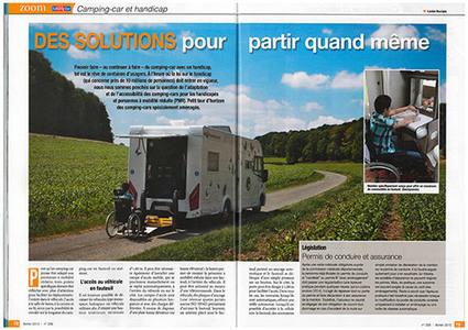 Le Monde du Camping-car réalise un dossier sur le handicap | caravaning | Scoop.it