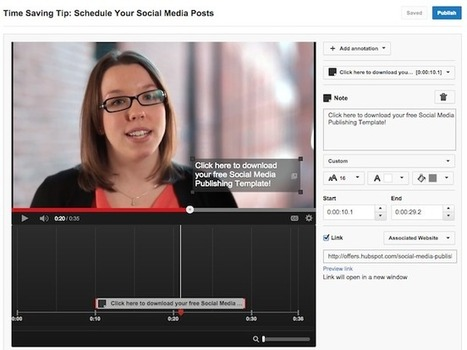 How to Annotate a YouTube Video [Quick Tip] | Time to Learn | Scoop.it