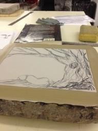 La lithographie sur pierre, premières étapes... | Point & Marge, the micro studio | Scoop.it