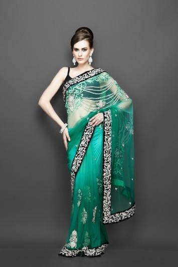 Designer Party wear Saree Blouse Online | indian saris online | Scoop.it