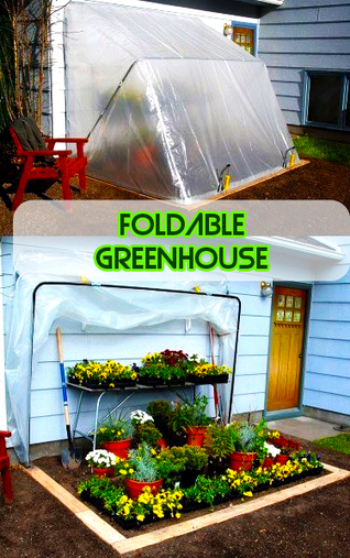 Easy Homestead: Foldable Greenhouse | Garden Ideas by Team Pendley | Scoop.it