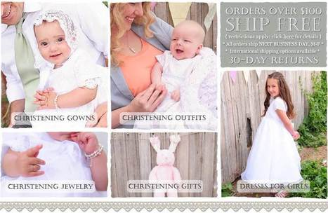 Christening, Baptism Gowns and Christening Outfits - Christening Gifts | onesmallchild | Scoop.it