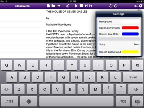 iReadWrite: TextHelp on iPad to support your writing and proofreading | Student Support | Scoop.it