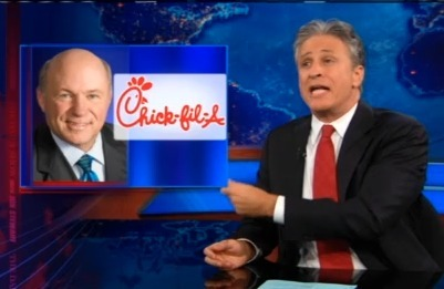 Jon Stewart Takes On 'Incredibly Disheartening' Chick-fil-A Appreciation Day | Coffee Party Equality | Scoop.it