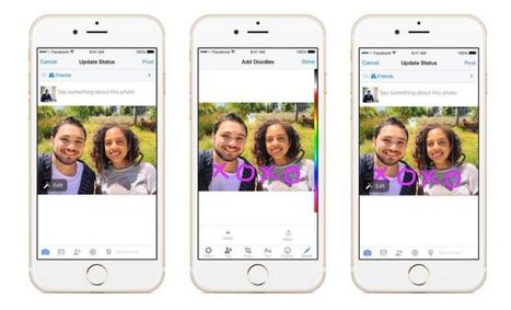 Facebook now lets you doodle on photos | The Perfect Storm Team Mobile | Scoop.it