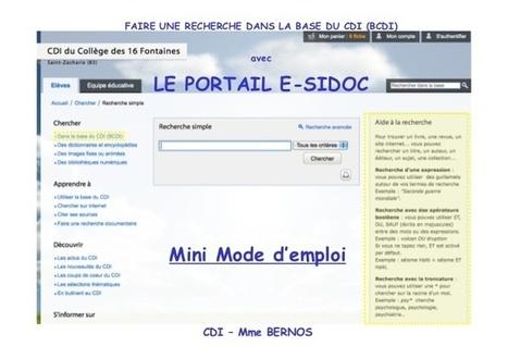 Mode d'emploi de bcdi / E-sidoc - Education - Online Powerpoint Presentation and Document Sharing - SlideServer.fr | Apprivoisons Esidoc | Scoop.it