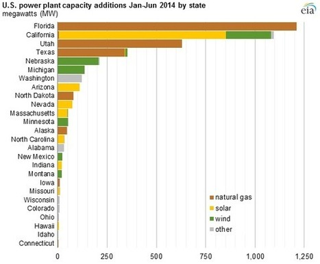 Natural Gas, Solar, and Wind Led Power Plant Capacity Additions in the First Half of 2014 | Cleantech & ENR | Scoop.it