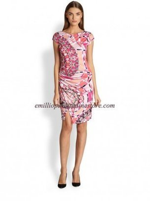 Emilio Pucci Pink Signature Pattern Printed Short Dress [Pink Signature print dress] - $185.99 : Emilio pucci dress sale online outlet,60% off & free shipping! | fashion things | Scoop.it